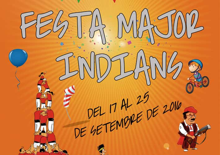 Programa Fiesta Mayor Indians'16