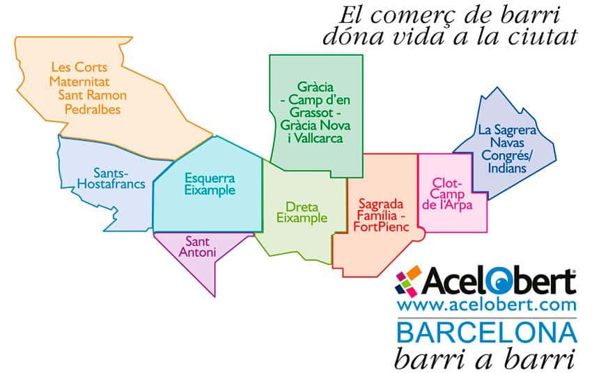 Acelobert BARCELONA barri a barri