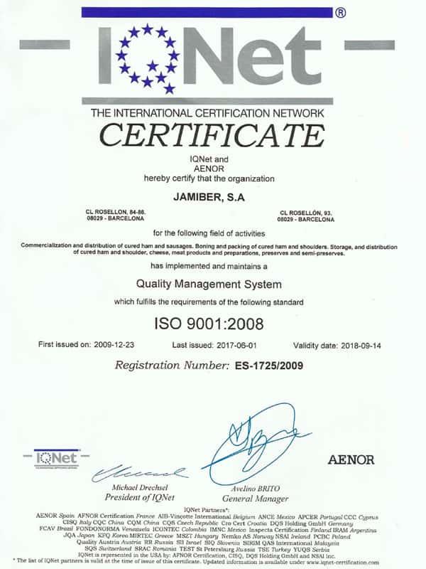 Certificado Roysan IQNET