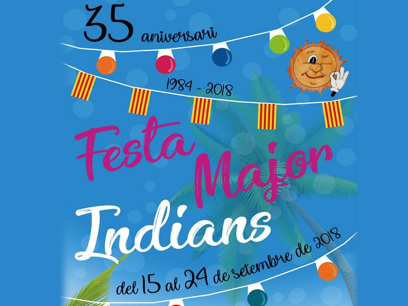 Programa Festa Major Indians 2018