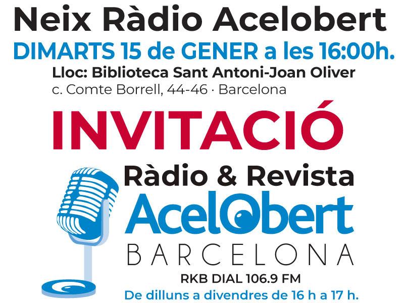 INVITACIÓ Inaugurem Ràdio Acelobert