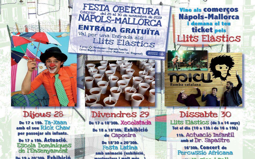 Festa d'Obertura carrer Nàpols-Mallorca
