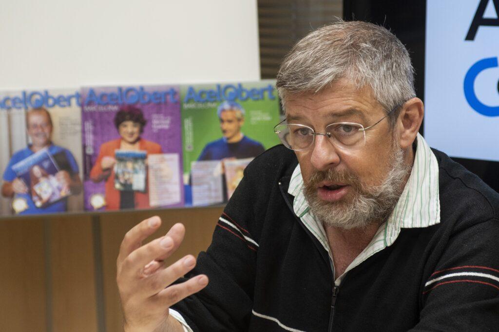 Ramón Franquesa. Fundador de Marea de Pensionistas en Cataluña y profesor de Economia en la Universidad de Barcelona